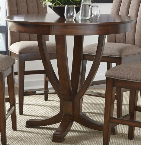 Mirage Cinnamon Counter Height Pedestal Dining Table