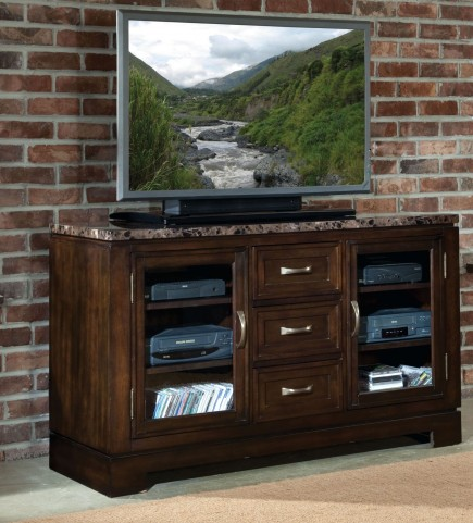 Bella Warm Chocolate Cherry Marbella Top TV Console