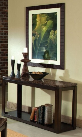 Bella Warm Chocolate Cherry Marbella Top Sofa Table