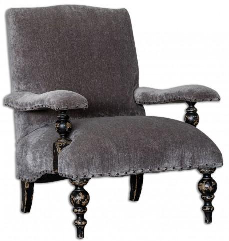 Eavan Gray Chenille Armchair