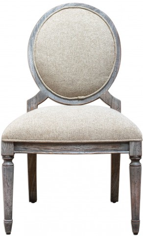 Kamila Driftwood Armless Chair