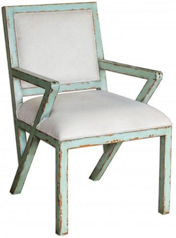 Zenia Seaglass Green Armchair