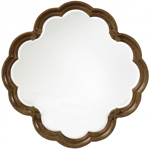 Continental Weathered Nutmeg Round Mirror