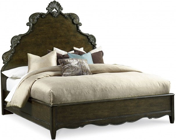 Continental Vintage Melange Queen Panel Bed