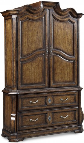 Continental Weathered Nutmeg Armoire