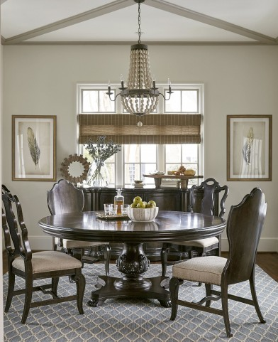 """Continental Vintage Melange 72"""" Round Dining Room Set"""