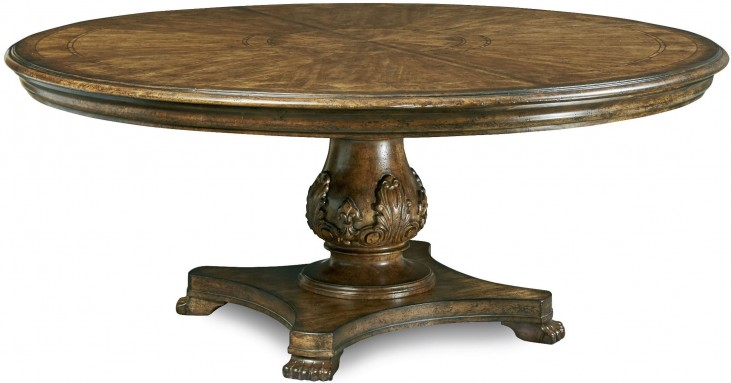 "Continental Weathered Nutmeg 72"" Round Dining Table"