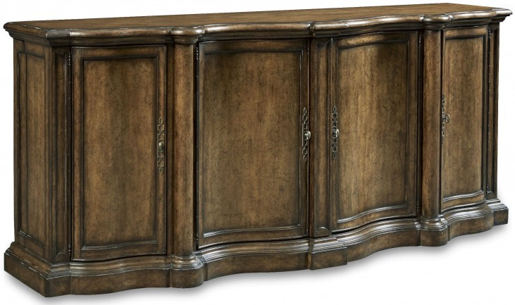Continental Weathered Nutmeg Shaped Sideboard