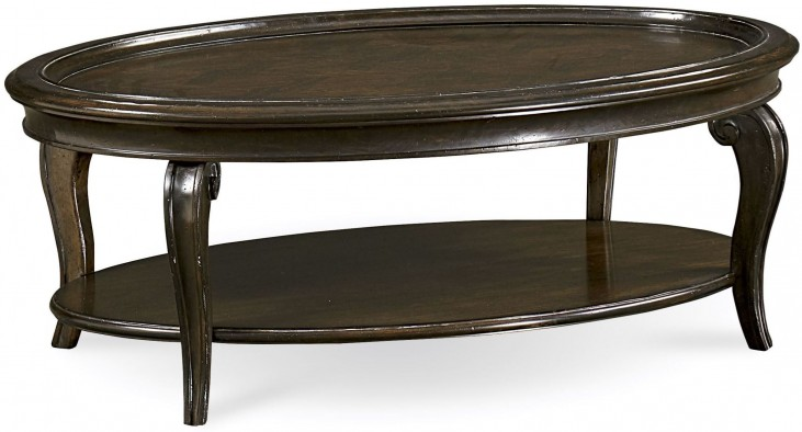 Continental Vintage Melange Oval Cocktail Table
