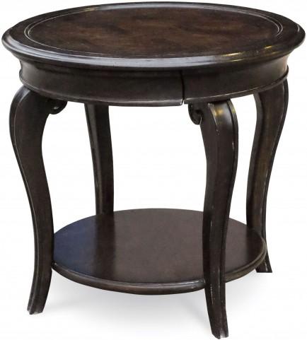 Continental Vintage Melange Round Lamp Table