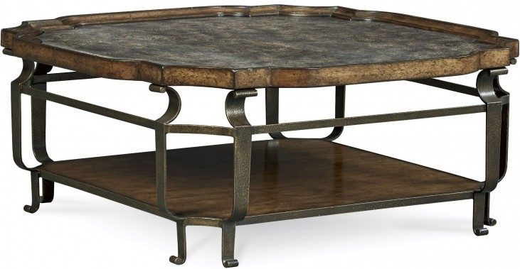 Continental Vintage Melange Square Cocktail Table