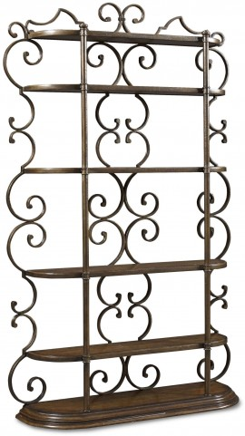 Continental Weathered Nutmeg Bookcase Etagere