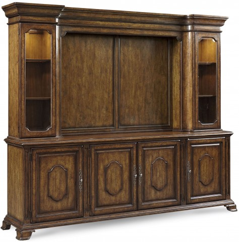 Continental Weathered Nutmeg Entertainment Center