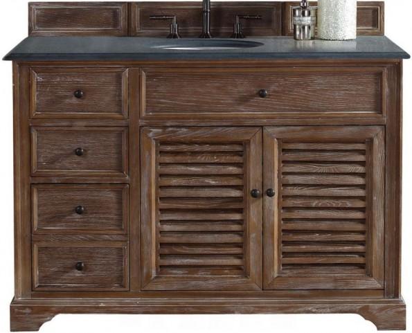 """Savannah 48"""" Driftwood Single Vanity With 2Cm Black Granite Top"""