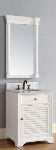 "Savannah 26"" Cottage White Single 2CM Top Vanity Set"