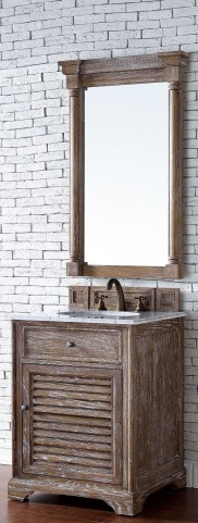 "Savannah 26"" Driftwood Single 2CM Top Vanity Set"