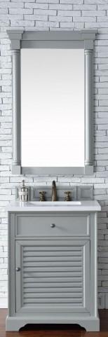 "Savannah 26"" Urban Gray Single Vanity With 3Cm Snow White Quartz Top"