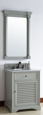 "Savannah 26"" Urban Gray Single 2CM Top Vanity Set"