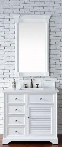"Savannah 36"" Cottage White Single 3CM Top Vanity Set"