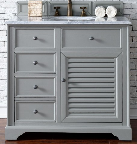 "Savannah 36"" Urban Gray Single 2Cm Top Vanity"