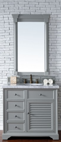 "Savannah 36"" Urban Gray Single 4CM Top Vanity Set"