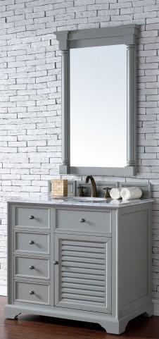 "Savannah 36"" Urban Gray Single 2CM Top Vanity Set"