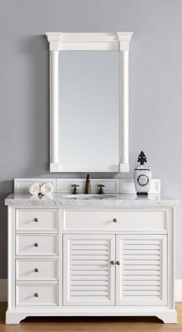 "Savannah 48"" Cottage White Single 4CM Top Vanity Set"