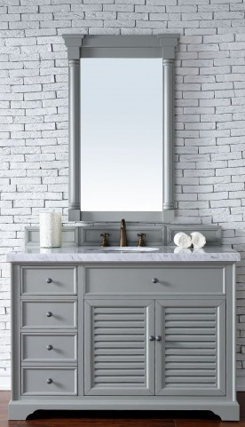 "Savannah 48"" Urban Gray Single 4CM Top Vanity Set"