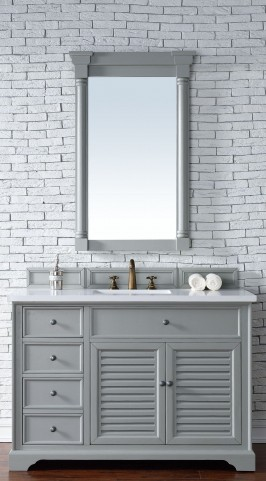"Savannah 48"" Urban Gray Single 3CM Top Vanity Set"