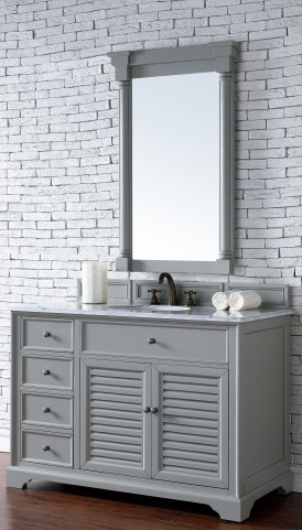 "Savannah 48"" Urban Gray Single 2Cm Top Vanity"