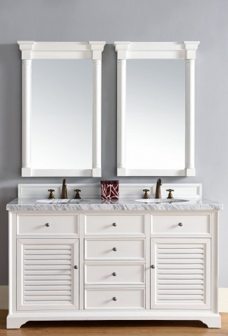 "Savannah 60"" Cottage White Double 4Cm Top Vanity"