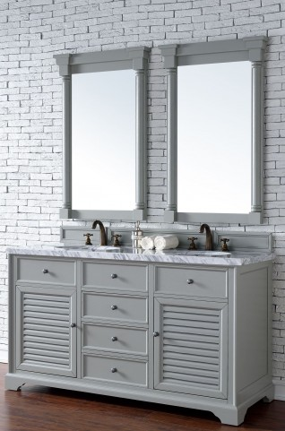 "Savannah 60"" Urban Gray Double 4CM Top Vanity Set"
