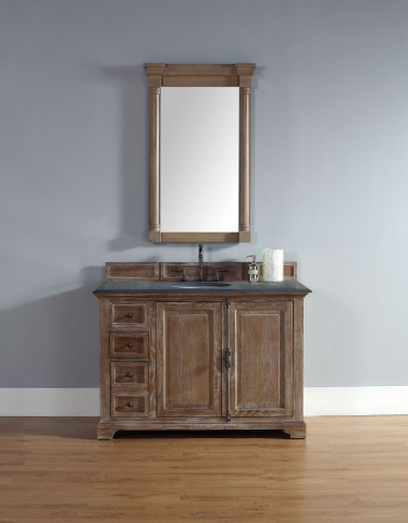 "Providence 48"" Driftwood Single 2CM Top Vanity Set"