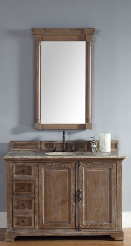 "Providence 48"" Driftwood Single Vanity With 2Cm Santa Cecilia Granite Top"