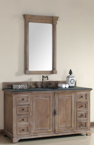 "Providence 60"" Driftwood Single 2CM Top Vanity Set"