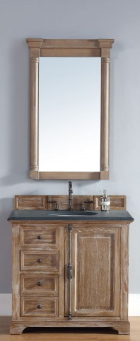 "Providence 36"" Driftwood Single 2CM Top Vanity Set"