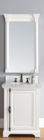 "Providence 26"" Cottage White Single 4CM Top Vanity Set"
