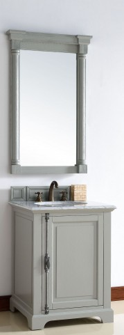 "Providence 26"" Urban Gray Single 2CM Top Vanity Set"