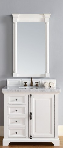 "Providence 36"" Cottage White Single 4Cm Top Vanity"