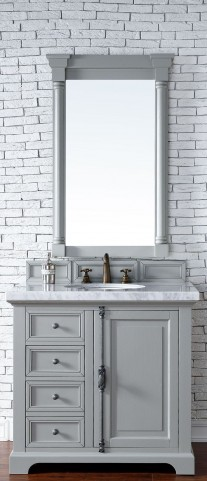 "Providence 36"" Urban Gray Single 4CM Top Vanity Set"