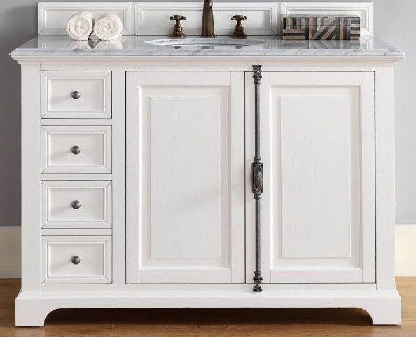 "Providence 48"" Cottage White Single 2Cm Top Vanity"