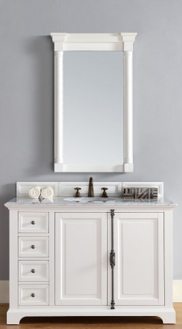 "Providence 48"" Cottage White Single 2CM Top Vanity Set"
