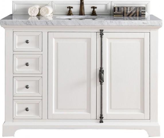 "Providence 48"" Cottage White Single 4Cm Top Vanity"