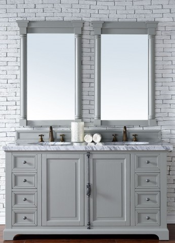 "Providence 60"" Urban Gray Double 4CM Top Vanity Set"