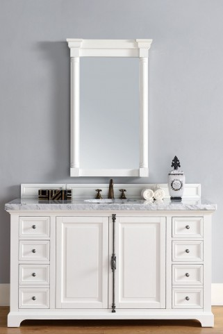 "Providence 60"" Cottage White Single 4Cm Top Vanity"
