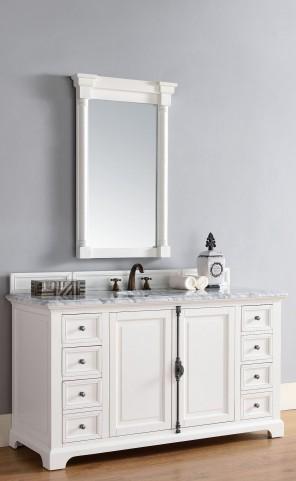 "Providence 60"" Cottage White Single 2Cm Top Vanity"