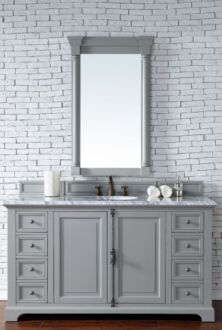 "Providence 60"" Urban Gray Single 2CM Top Vanity Set"