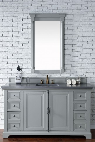 "Providence 60"" Urban Gray Single 3CM Top Vanity Set"
