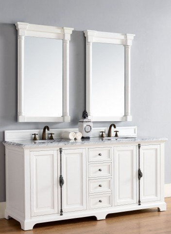 "Providence 72"" Cottage White Double 2Cm Top Vanity"