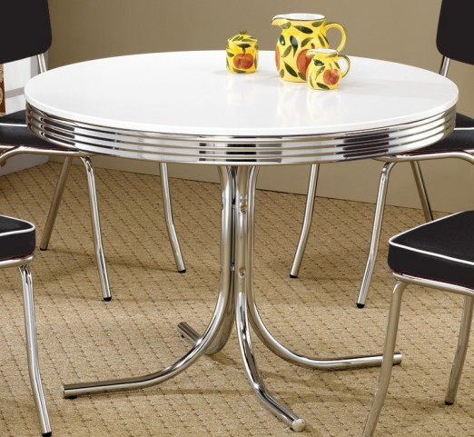 2388 Retro Chrome Round Retro Table